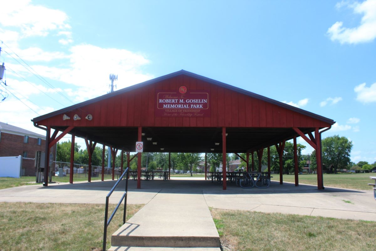Red pavilion rental for residents in Bourbonnais Illinois.