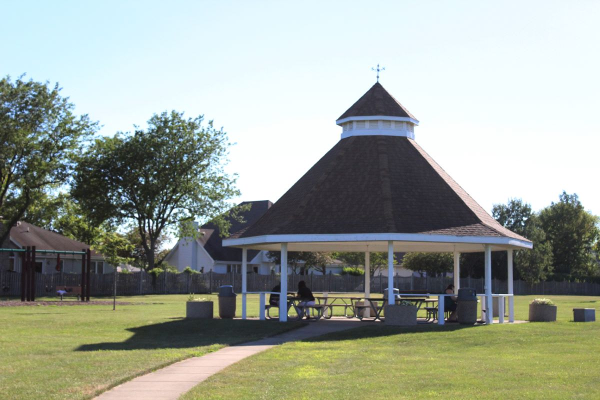 village of bourbonnais gazebo at local park