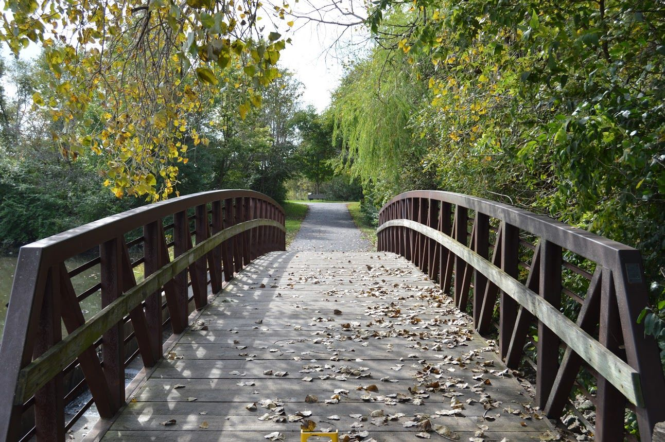 bridge at bourbonnais township park's perry farm